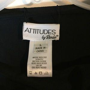 Attitudes by Renee Tops - Reversible open blazer L